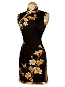 Classical Yulan Embroidered Silk Brocade Cheongsam
