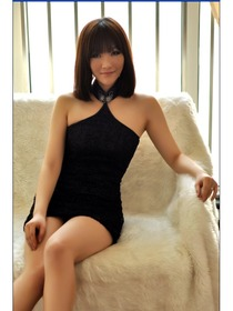 Black Lace Halter Style Mini Cheongsam Dress