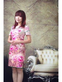 Splendid Blossoming Pure Silk Improved Cheongsam Dress