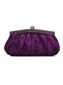 Modern Purple Satin Lace Formal Evening/Wedding Party Handbag