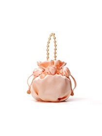 Pink Champagne Satin Pretty Flower Girl Bag