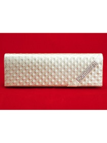 Fashion Ivory Evening Bags With Decorations
