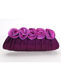 Purple Satin Evening/Wedding Party Elegant Handbag