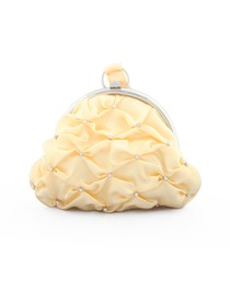 Pretty Yellow Beads Satin Evening Bags