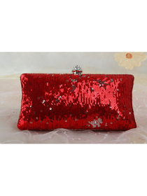 Shiny Red Sequin Graduation/Prom/Party Handbag