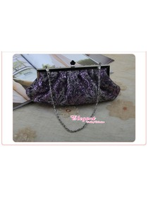 Shiny Purple Satin Glitter Graduation/Prom/Party Handbag