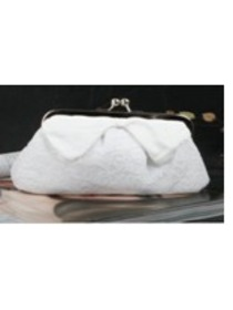 Gorgeous Satin Evening Bag Handbag Purse With Lace