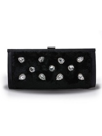 Black Velvet Beading Evening Bag