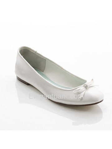 Elegantpark Flat Satin Bownot Bridal Shoes (EP31006)