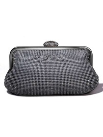Silver Crystals Metallic Evening/Metallic Handbags