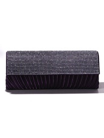 Classic Deep Purple Crystal Metallic Clutches/Metallic/Evening Bags