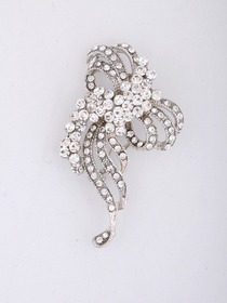 Gorgeous Silver Crystals Silver Plating Wedding Brial Pin