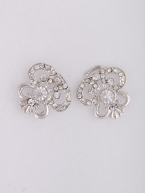 Clear Fashion Crystals Silver Wedding Bridal Pins & Clips