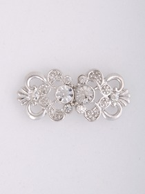 Elegant Silver Crystal Wedding Bridal Pins & Clips