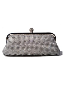 Fabulous Silver Crystals Evening Wedding Party Handbag