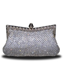 Luxury Silver Crystals Evening Bags/Handbags/Clutches