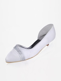 Elegantpark Closed Toe Satin Beading Wedding Bridal Shoes (More Colors Available)