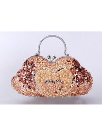 Champagne Pearls Evening Party Handbag