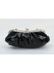 Black Rhinestone PU Evening Handbag Women Clutch