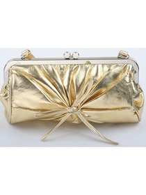Gold Square PU Evening Handbag Women Clutch