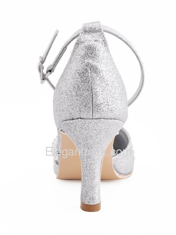 Elegantpark Gold Pointy Toe Stiletto Heel Glitter Wedding Evening Party Shoes (A670H)