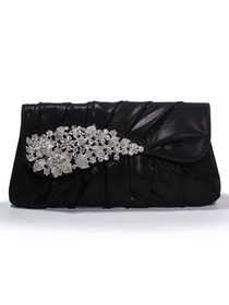 Elegant Rhinestones Glitter PU Evening Party Handbag