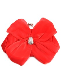 Modern Red Satin Formal Evening/Wedding Party Handbag