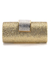 Gorgeous Gold Glitter PU Evening Bag