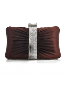 Modern Brown Satin Wedding/Evening Handbag