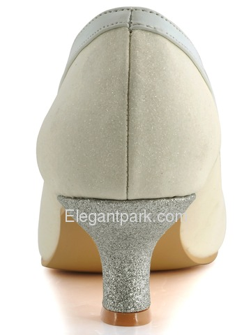 Elegantpark Ivory Round Toe Rhinestone Bowknot Glitter Evening & Party Shoes (A316)