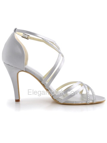 Elegantpark Stiletto Heel Pumps Satin Stiletto Heel Satin Shoes (EP11062)
