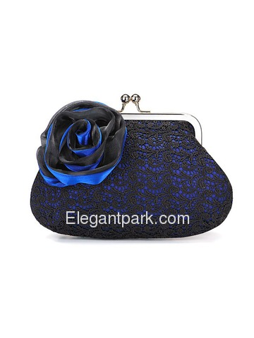 Elegant Silver Satin Evening/Wedding Handbag