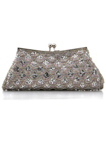 Gorgeous Satin Evening Bag Handbag Purse With Beads