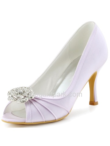 ElegantPark Women Peep Toe High Heel Rhinsotnes shoe-clip Wedding Prom Pumps (EP2094AF)