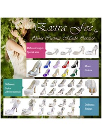 ElegantPark Extra Order Charge Fees for Shoes Custom Made Service For Women Wedding Bridal Shoes