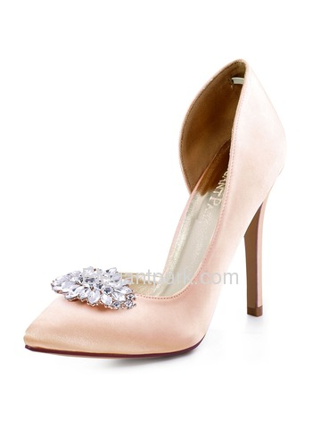 ElegantPark Women Pointed Toe High Heels D'orsay Rhinestones Clips Wedding Bridal Dress Shoes Pumps (HC1601AW)
