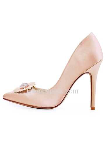ElegantPark Women Pointed Toe High Heels D'orsay Daisy Clips Wedding Bridal Dress Shoes Pumps (HC1601AN)