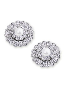 EletantPark Silver Gold Women Wedding Dress Accessories Flower Pearl Decoration Shoe Clips 2 Pcs