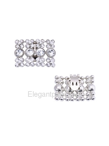 EletantPark Women Wedding Dress Accessories Square Design Rhinestones Shoe Clips 2 Pcs