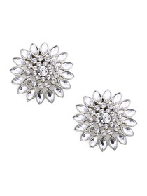 EletantPark Silver Gold Women Wedding Dress Accessories Sunflower Rhinestones Hat Shoe Clips 2 Pcs