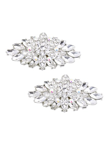 EletantPark Silver Gold Women Wedding Dress Accessories Gift Rhinestones Hat Shoe Clips 2 Pcs