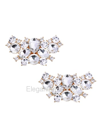 EletantPark Silver Women Wedding Dress Accessories Gift Butterfly Design Decoration Shoe Clips 2 Pcs