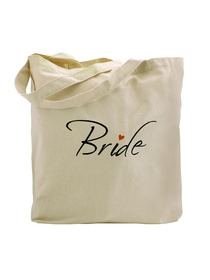 ElegantPark Bride Tote Bag For Wedding Party Natural Canvas 100% Cotton