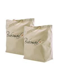 ElegantPark Bridesmaid Tote Bag Natural Canvas 100% Cotton 2 Packs …