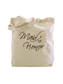 ElegantPark Maid of Honor Tote Bag Natural Canvas 100% Cotton