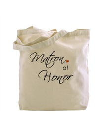 ElegantPark Matron of Honor Tote Bag Natural Canvas 100% Cotton