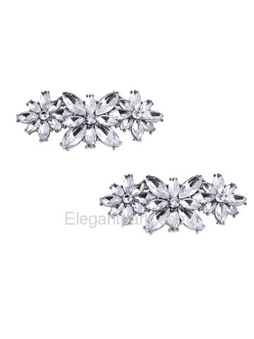 EletantPark Silver Women Wedding Dress Accessories Gift Shoe Clips 2 Pcs