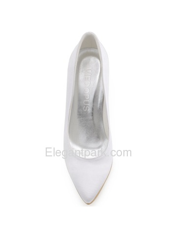WEDOPUS HC1530 Women Pointed Toe High Heel Slip on Satin Wedding Evening Party Pumps Shoes (HC1530)