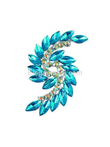 BP1707 Crystals Brooch Pin Women Fashion Jewelry S Type
