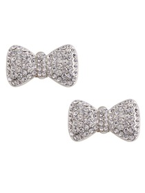 CF 2 Pcs Shoe Clips Sparkly Diamante Bow Rhinestones Wedding Evening Prom Party Decoration Gift